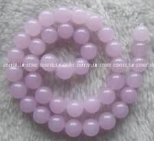 "10mm Lavender Jade Round Loose Beads Stone 15.5"""