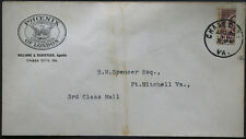 Cover - True 3 Cent Bisect to 1 1/2 Ct 3rd Class Mail rate - Chase Va S14