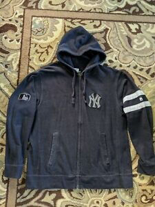 New York Yankees Zippered Sweatshirt Hoodie MLB Authentic Collection Majestic XL