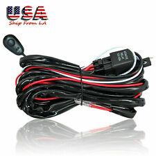 Refit Light Bar Wiring Harness Relay & ON OFF Switch for Fog Light HID Work lamp