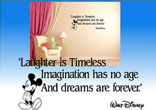 Walt Disney inspired wall quote sticker decal wall art Kids bedroom study home