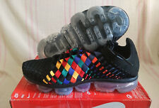 Nike Air VaporMax Inneva Rainbow Weave Black Blue Multi AO2447 001 Size 11.5