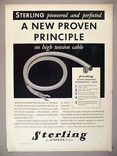 Sterling Automotive Cable PRINT AD - 1933 ~ Auto-Lite