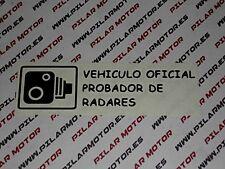 PEGATINA VINILO STICKER VEHICULO OFICIAL PROBADOR DE RADARES