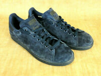 ADIDAS Stan Smith Mens Blue Suede Tennis Shoes Size 10 Art S75107