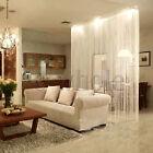 White Fringe Door Window Panel Room Divider String Curtain Strip Tassel HG417 HM