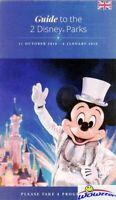 Paris Disneyland Resort GUIDE MAP in English! Great Disney Collectible! FRANCE