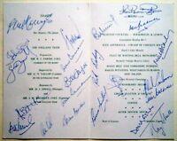 ENGLAND TO AUSTRALIA 1978-79 A.C.B WELCOME MENU  – FULLY AUTOGRAPHED INC BRADMAN