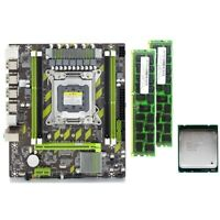 X79 X79G Motherboard Set with LGA2011 Combos Xeon E5 2620 CPU 2Pcs x 4GB = G2O8