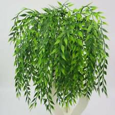Artificial Fake Leaves Plastic Plant Flower Wall Hanging Home Garden park Decor