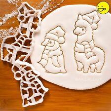 Christmas Alpaca & Baby Penguin cookie cutter - Cute Animal lama winter arctic