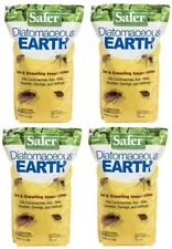 4 Safer 51703 4lb Diatomaceous Earth Bed Bug Flea and Ant Crawling Insect Killer