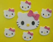 edible HELLO KITTY INSPIRED KIT cake topper CUPCAKE DECORATION complete set CAT