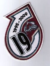 NHL COLORADO AVALANCHE RETIREMENT PATCH FOR JOE SAKIC IRON ON OR SEW ON
