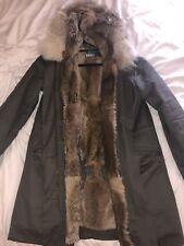 Yves Salomon Parka Jacket Green Fur Size 38(fits Men Small-medium)100%legit