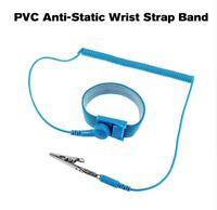 PVC Anti-Static Wrist Strap Band ESD Discharge AntiStatic Wrist Belt, Blue