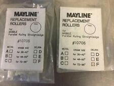 """MAYLINE REPLACEMENT ROLLERS #10706 f LOT OF 2 DELRIN  STEDGE 72""""-- 96"""""""