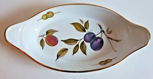 ROYAL WORCESTER EVERSHAM VALE OVAL SERVING DISH - AS NEW - 27CM ACROSS