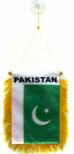 "Wholesale lot 3 Pakistan Mini Flag 4""x6"" Window Banner w/ suction cup"
