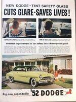 1952 Dodge Automobile Vintage Advertisement 11x14 Print Art Car Ad LG66