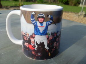 """Bryony Frost & Frodon Cheltenham Celebration mug quote """"Don't you dare give up"""""""