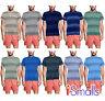 Men's Polo T-Shirt Causal Loose Fit Pocket Zip Tops Polycotton M-2XL