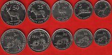 Eritrea set of 5 coins: 1 - 50 cents 1997 AU-UNC