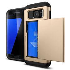 Credit Card Holder Wallet Slide Phone Case For iPhone X 5 6 7 8 Samsung J7 S8 S9