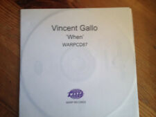 VINCENT GALLO - When - Adv. Promo CDr - Warp Records - 2001 - BUY 3 GET 1 FREE