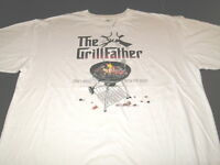 The Grill Father Cant Mess With Best - Charcoal Grilling T-Shirt New! NWT XXL 2X