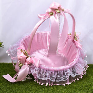 Wedding Party Flower Basket Delicate Attractive Flower Girl Carrying Basket