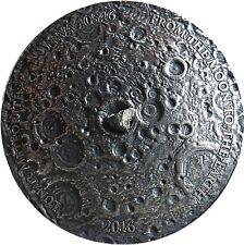 MOON - LUNAR REAL METEORITE NWA 10546 NANO CHIP - 2016 1 oz Convex Silver Coin