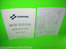 MX 5000 By KONAMI 1987 ORIGINAL VIDEO ARCADE GAME INSTRUCTION MANUAL + SCHEMATIC