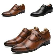 Men's Leisure Leather Lace up British Pointy Toe Business New Dress Formal Shoes