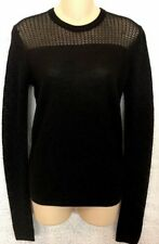 Proenza Schouler Sweater Black Long Sleeve Knit Size Small
