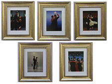 Dancers Collection by Jack Vettriano Set of 5 Framed & Mounted Art Prints Gold