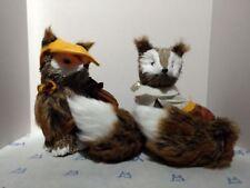 "Fall Fest - Sisal Fox Pair - Natural Fiber - 7"""