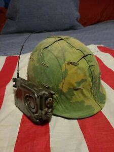 Vietnam USMC M1 Combat Helmet W / Radio