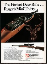 1988 RUGER Mini Thirty Deer Rifle AD Collectible Firearms Advertising