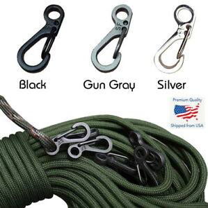 10x PCS SF Spring Backpack Paracord Clasps Clips Hiking Carabiner EDC Keychain