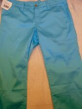 Loudmouth Golf Cotton Blend Powder Blue Capri Pants NWT Size 6