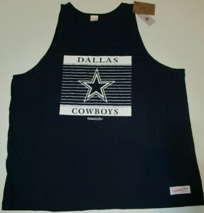 New Dallas Cowboys NFL Football men's authentic Mitchell & Ness Tank Top Shirt