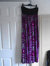 nwtags strapless maxi dress in black and cerise size 12 by F&F