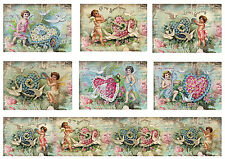 Card Toppers Victorian Valentine Cherubs Shabby Chic/Cardmaking/ Paper Craft