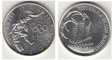SAN MARINO 1984 LIRE 500  ARGENTO FIOR DI CONIO SILVER  Olimpiadi  U.S.A. FDC