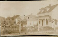 Exterior Street View of Houses in Houston Missouri MO RPPC Photo Postcard B14