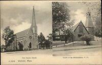 Webster MA Churches c1905 Postcard