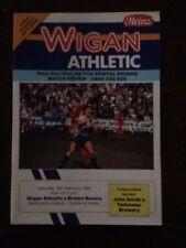 Wigan Athletic v Bristol Rovers programme 1987/88