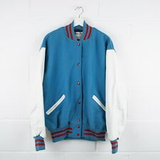Vintage DELONG Blue American College Jacket Size Mens XL XLarge /R39007