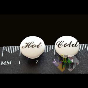 Hot Cold Tap Top Bathroom Kitchen Basin Insert Indicator Cap Push-In Indices 1pr